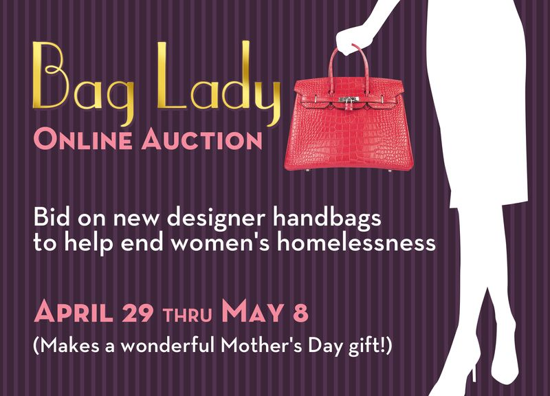 Bag lady auction