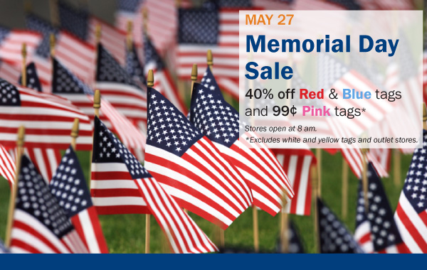 Memorial Day Sale at Goodwill